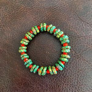 Artisan Made Ghanaian Recycled Glass Bracelet